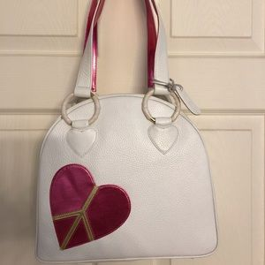 Sweetooth white bowler purse New